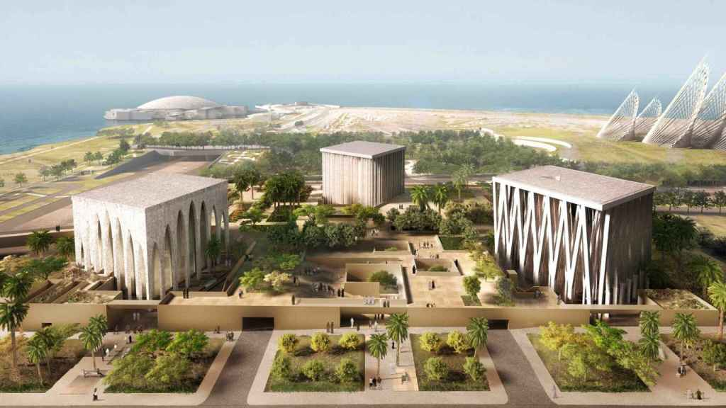 Diseño del complejo interreligioso que se hará en Abu Dhabi.