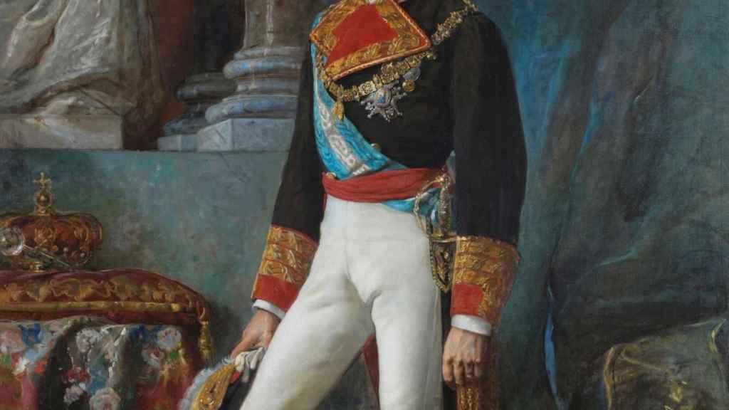 Retrato de Amadeo I, pintado por Vicente Palmaroli y González.