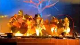 Fotograma del ataque a los actores españoles, perpetrado en noviembre.