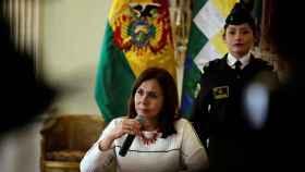 Ministra de Exteriores de Bolivia Karen Longaric.