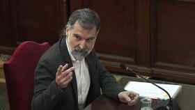Jordi Cuixart durante el juicio del 'procés'.