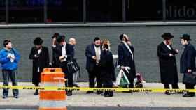 Un grupo de judíos ortodoxos, en una imagen de OJPAC.