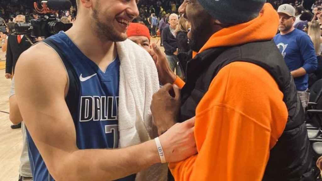 Luka Doncic y Kobe Bryant