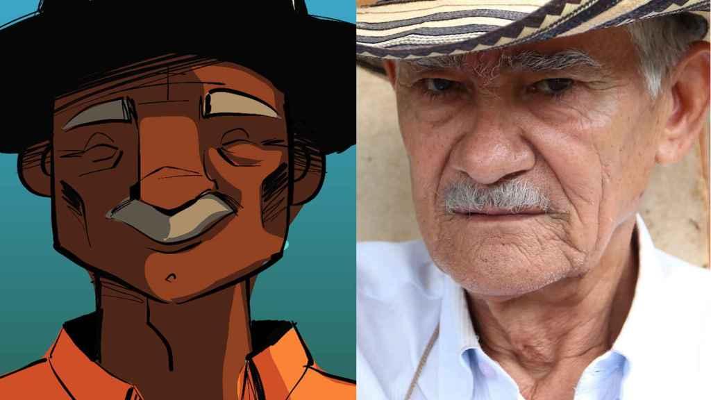 El 'Don' Emiliano del cómic es, en la vida real, Luis 'Lucho' Torres, líder de la comunidad de El Salado.