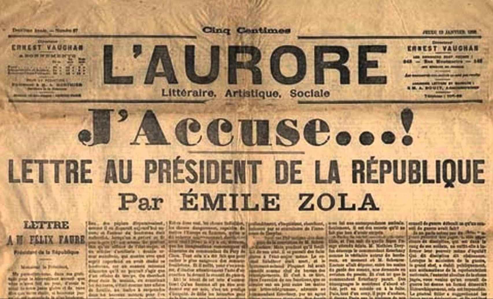 'J'accuse...!' de Émile Zola.