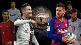 Cristiano y Messi, con sus respectivas selecciones