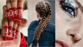 Tendencias de 2020: uñas, trenzas y maquillaje 'glitter'.