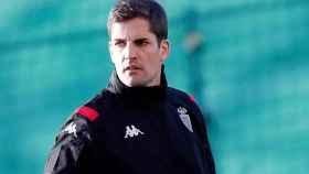 Robert Moreno, en un entrenamiento con el Mónaco
