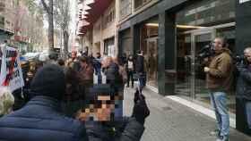 Los CDR ante la sede de ERC en Barcelona