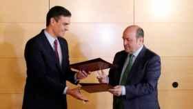 Pedro Sánchez y Andoni Ortuzar, este lunes.