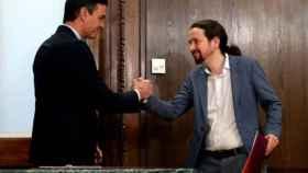 El presidente del Gobierno, Pedro Sánchez, y el vicepresidente Pablo Iglesias.