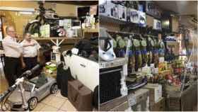 Estas son las cestas navideñas que más triunfan en nuestro país. A la derecha, en el bar 'El Paisano'. A la izquierda, Calamocha.