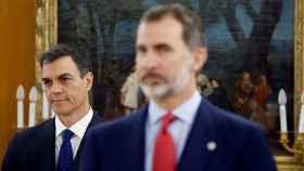 Pedro Sánchez y Felipe VI en Zarzuela