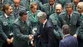 Marlaska, en una imagen de archivo de un acto con miembros de la Guardia Civil.