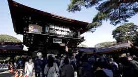 El Santuario Meiji en Tokio (Japón).