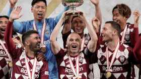 David Villa y Andrés Iniesta, campeones de la Copa del Emperador de Japón con el Vissel Kobe