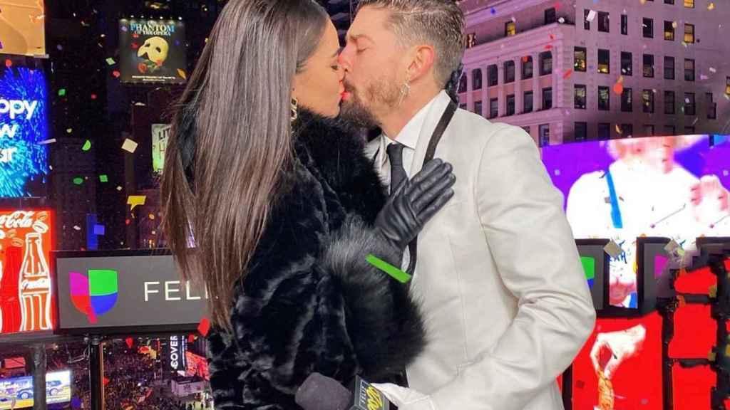 Adrián Lastra y Clara Chaín, en Nueva York.
