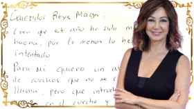 Ana Rosa ha escrito la carta manuscrita a los Reyes Magos y la ha hecho llegar a JALEOS.