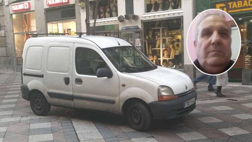 La furgoneta de José Luis, que ya no puede circular por Madrid Central después de la nueva restricción.