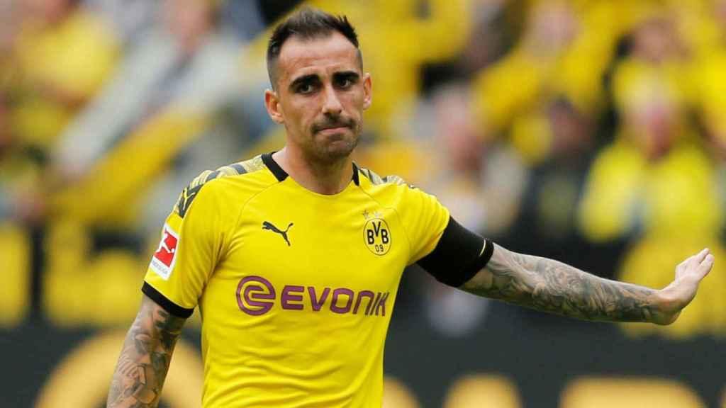 Paco Alcácer, con el Borussia Dortmund