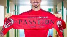 Zlatan Ibrahimovic, con el Milan