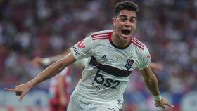 Reinier, en un partido del Flamengo