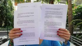 Carmen A., la opositora que ha iniciado la batalla contra la Policía por el examen de ortografía.