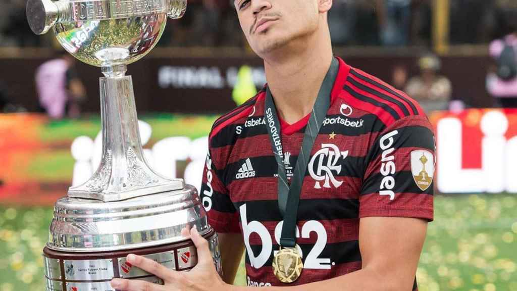 Reinier, con la Copa Libertadores