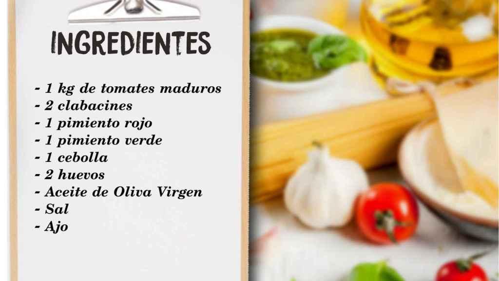 Los ingredientes del plato.