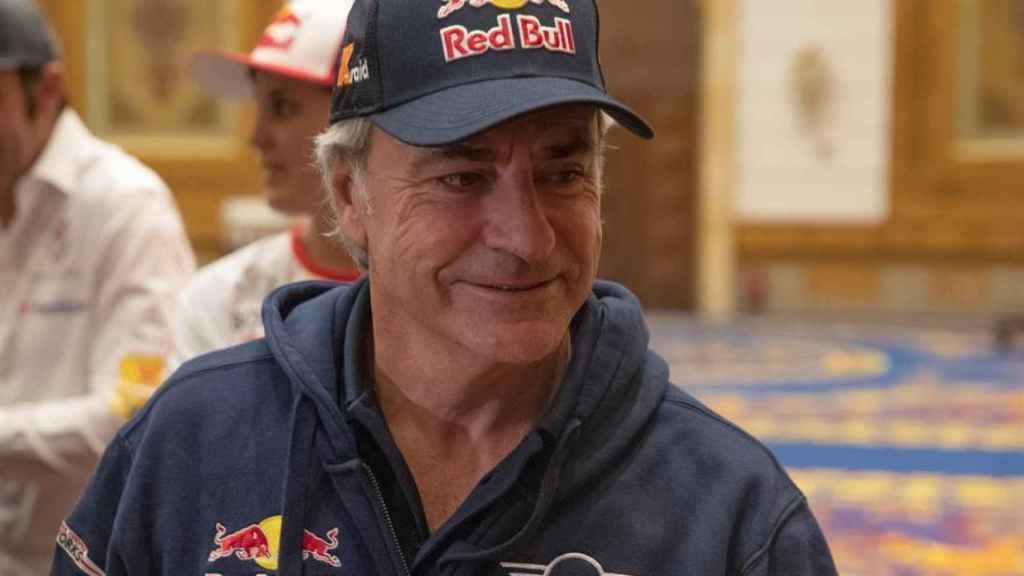 Carlos Sainz, durante la conferencia de prensa en la ciudad de Jeddah.