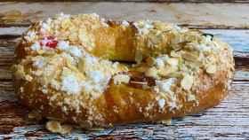 Un roscón de Reyes casero.