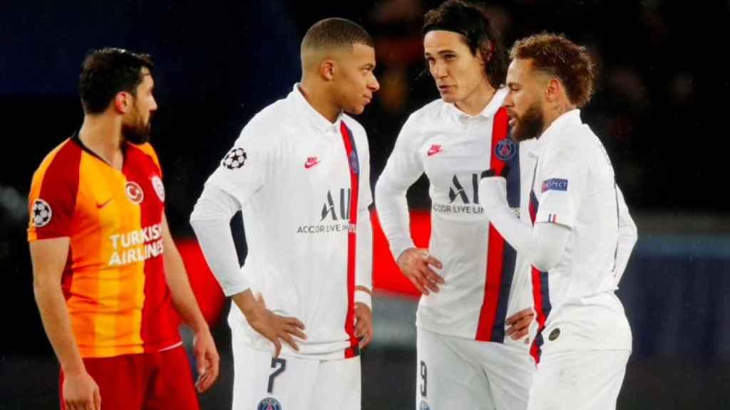 Mbappé, Cavani y Neymar