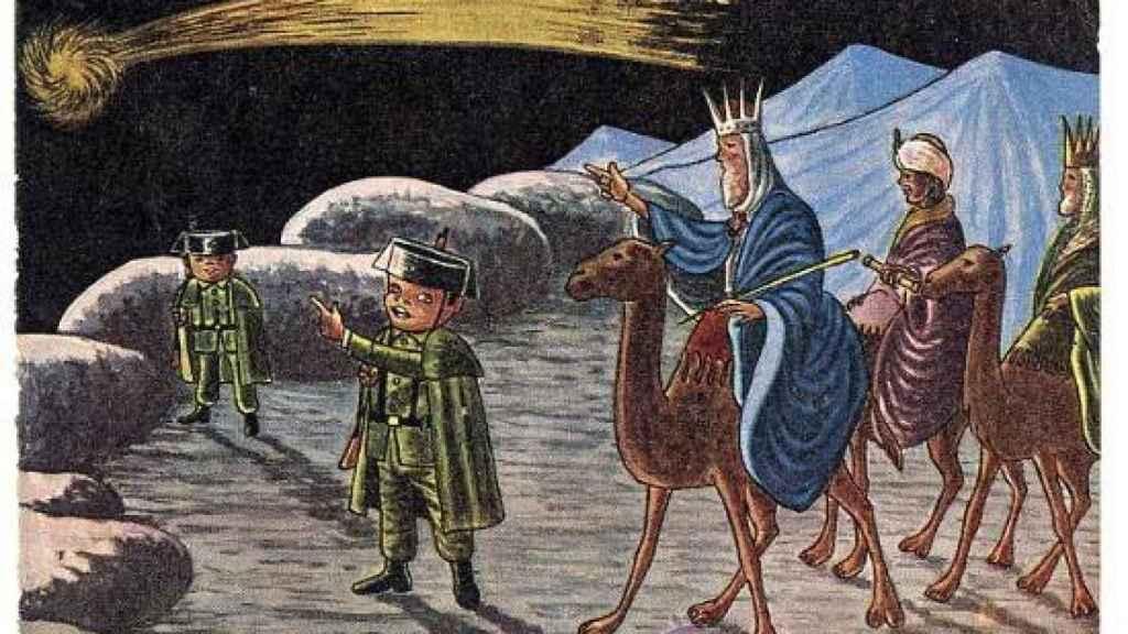 Imagen empleada por la Guardia Civil para felicitar el Día de los Reyes Magos.