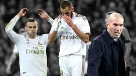 Gareth Bale, Karim Benzema y Zinedine Zidane
