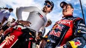 Fernando Alonso y Carlos Sainz, durante el pasado Rally de Marruecos