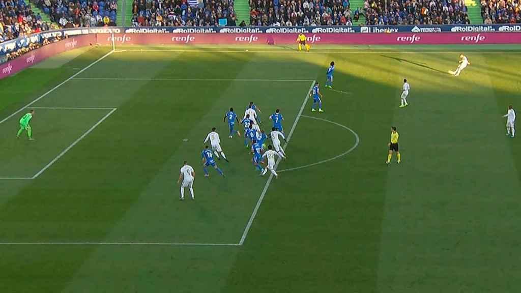 Gol legal de Varane al Getafe