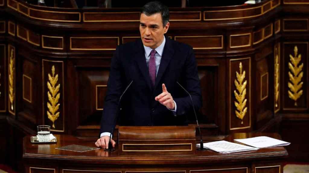 Pedro Sánchez, en su discurso ante el Congreso en el pleno de investidura.