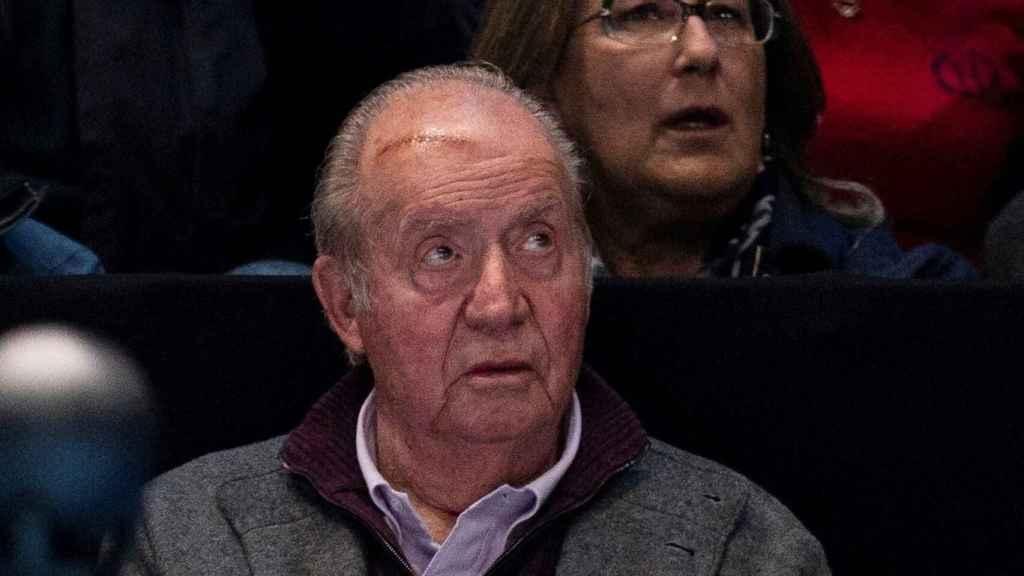 El rey Juan Carlos tras sufrir un accidente doméstico.