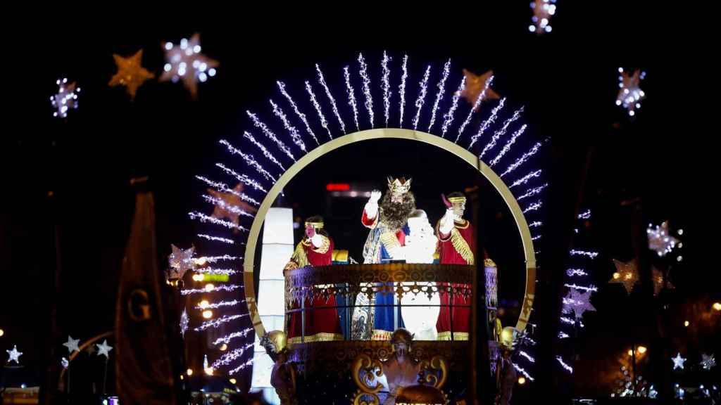 Los Reyes Magos llegando a Cibeles.