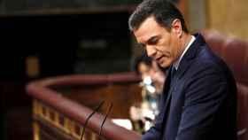 Pedro Sánchez, candidato del PSOE, durante la segunda sesión del debate de investidura.