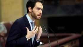 Sergio Sayas, durante su intervención en el Congreso.