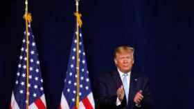 Donald Trump,  presidente de EEUU, durante la convención evangélica en Miami.