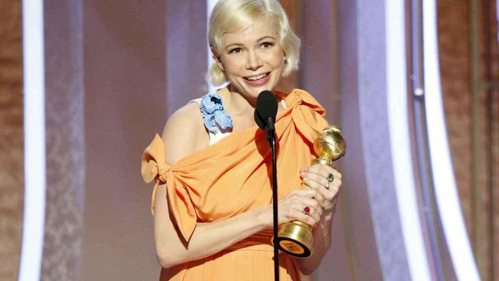 Michelle Williams en la gala de los Globos de Oro.