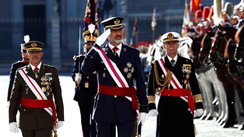 El Rey Felipe VI en la Pascua Militar 2020.