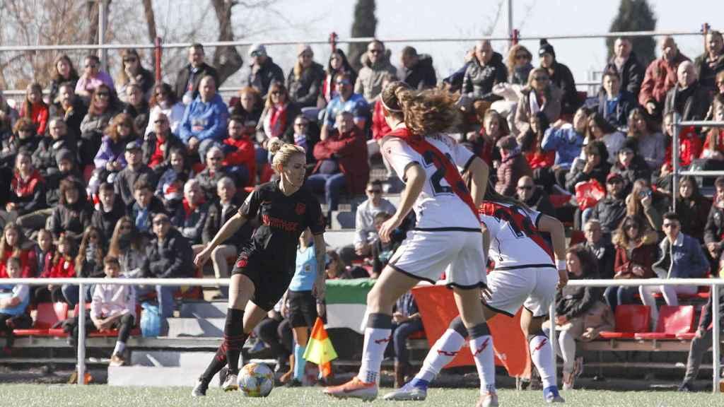 El Atlético de Madrid femenino frente al Rayo Vallecano