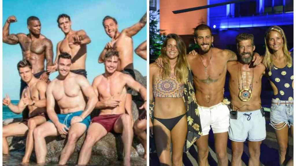 Concursantes de 'La isla de las tentaciones' y los finalistas de 'Supervivientes 2019' en montaje JALEOS.