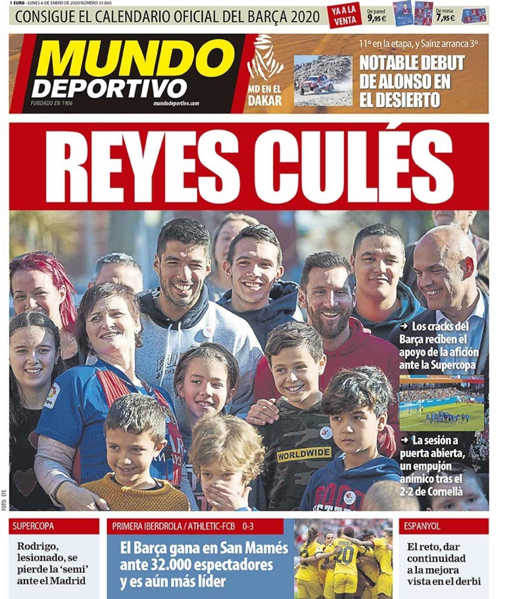 La portada del diario Mundo Deportivo (06/01/2020)