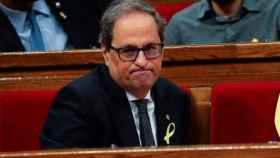 Quim Torra, en el Parlamento catalán./