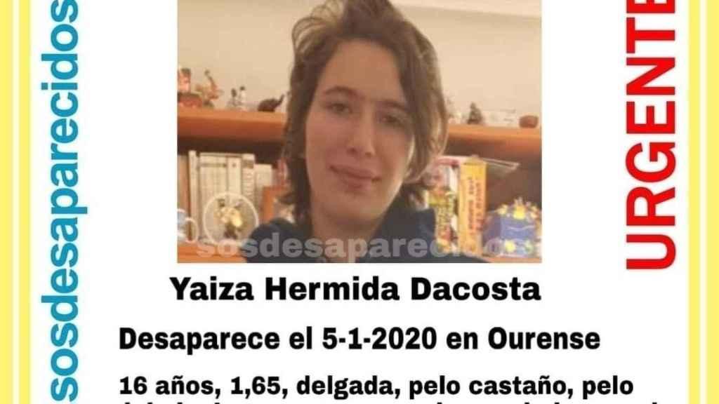 Imagen de la menor desaparecida.