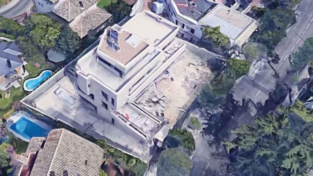 Detalle de la casa de José Mota en obras.